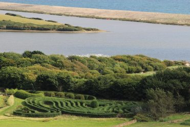 The Giant Swan Maze, from Chapel Hill, Abbotsbury