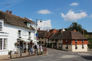 The Steyning Tea Rooms and Church Street, Steyning