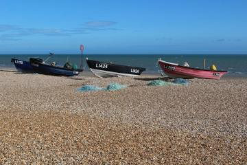Fishing boats, beach, Bognor Regis
