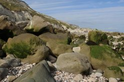 Boulders, beach, Cow Gap, Beachy Head