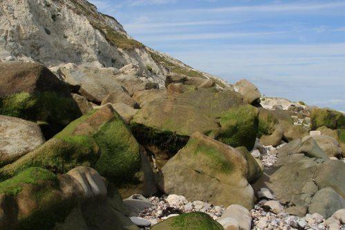 Boulders, beach, Cow Gap, Beachy Head