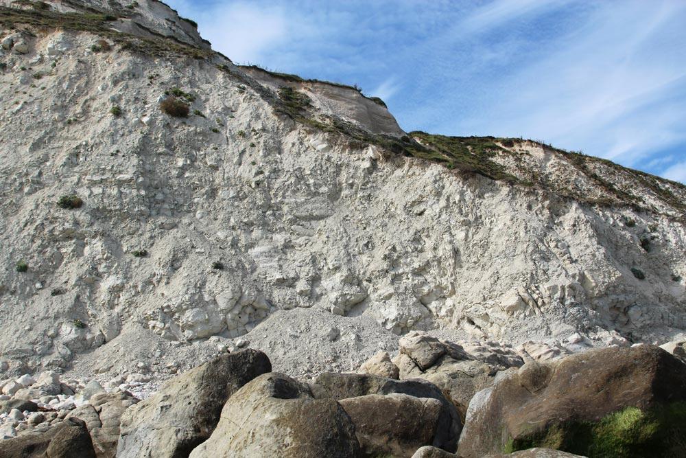 Chalk cliffs, Cow Gap, Beachy Head