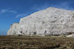 Chalk cliffs from beach, Hope Gap