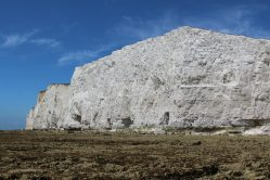 Chalk cliffs from beach, Hope Gap