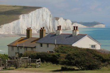 Coastguard Cottages and Seven Sisters, Cuckmere Haven