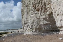 Sea erosion in chalk cliffs and Seven Sisters, east of Birling Gap