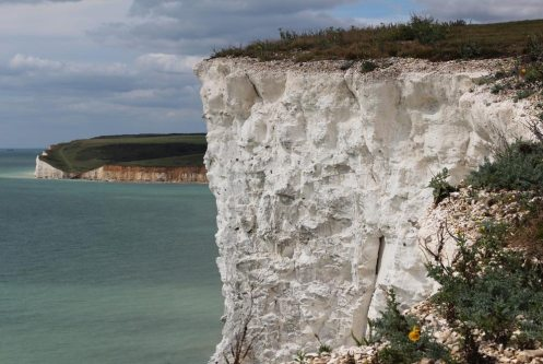 Seaford Head and chalk cliff, Seven Sisters