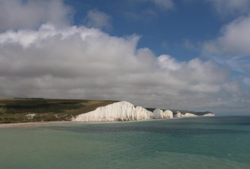 Seven Sisters, from cliffs between Cuckmere Haven and Hope Gap