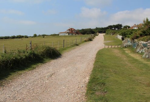 South Downs Way footpath, from Birling Gap to Cuckmere Haven