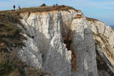 Chalk cliffs breaking away, Beachy Head