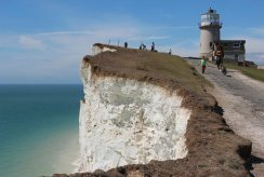 Old access road to Belle Tout Lighthouse, Beachy Head