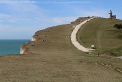 South Downs Way cliff path to Belle Tout Lighthouse, Beachy Head