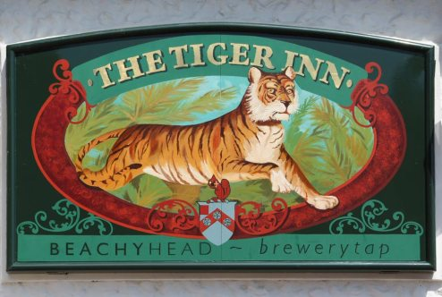The Tiger Inn pub sign, East Dean