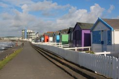 Beach Huts and Horizon View Apartment Complex, Westward Ho!