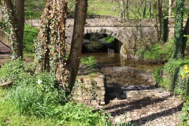 Bridge in grounds of Bickleigh Mill, Bickleigh