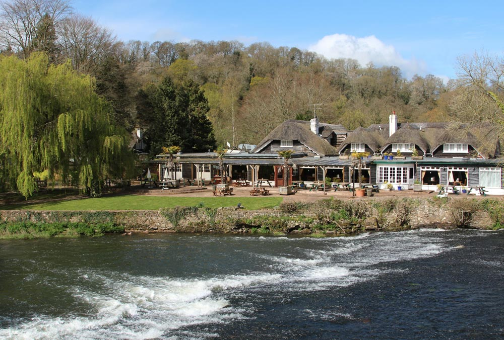 The Fisherman's Cot, on banks of River Exe, Bickleigh
