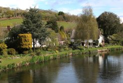 Trout Inn and Bickleigh Cottage, River Exe, Bickleigh