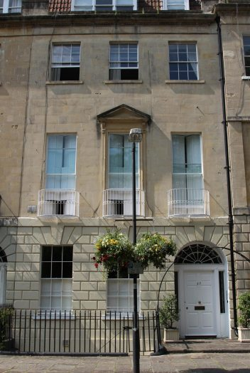 27 Green Park Buildings, where Jane Austen's father died in 1805, Bath