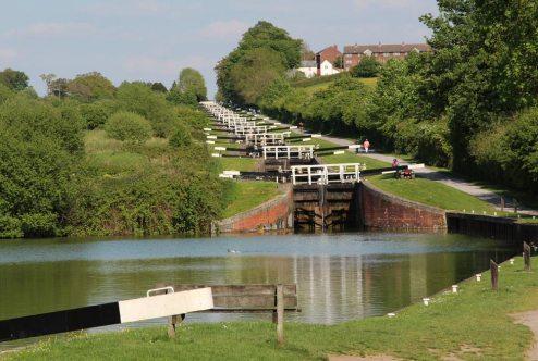 Caen Hill Flight Locks, Kennet and Avon Canal, Rowde