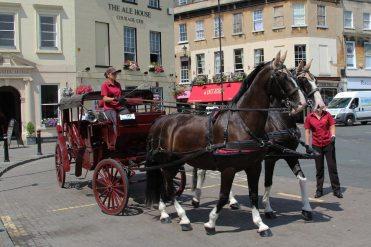 Horse drawn carriage, Bath