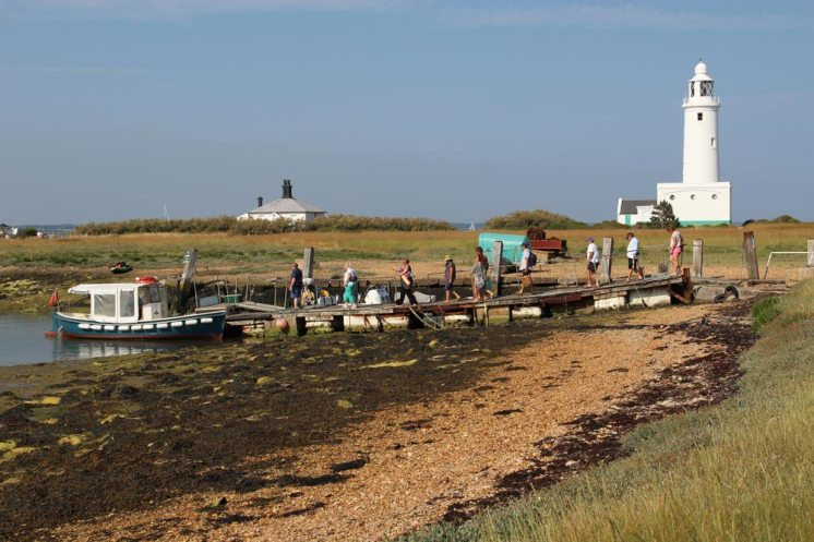 Keyhaven Ferry and jetty, Hurst Castle, Milford-on-Sea