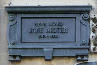 Plaque on 4 Sydney Place, home of Jane Austen, 1801-1805, Bath