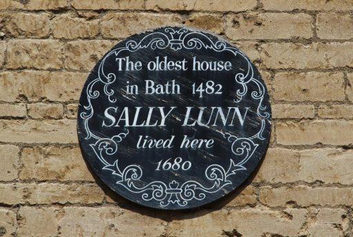 Plaque on Sally Lunn's House, Bath