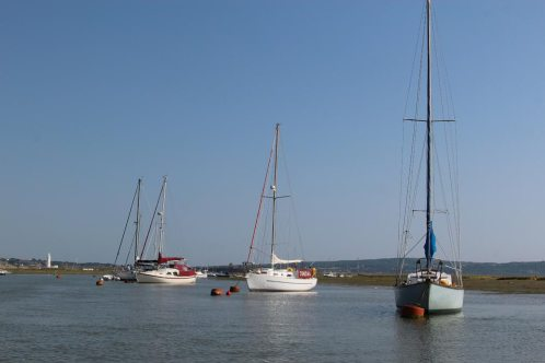 Yachts, Keyhaven Lake, near Milford-on-Sea