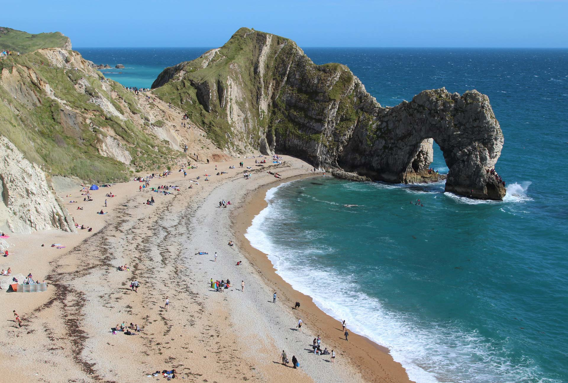 This site uses cookies More info & Lulworth Cove to Durdle Door Dorset - Beautiful England Photos pezcame.com
