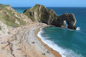 Beach and Durdle Door