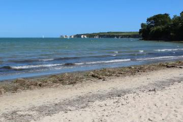 Old Harry Rocks, from Middle Beach, Studland