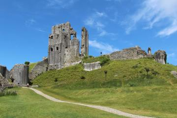 Outer Bailey and Great Ditch, Corfe Castle