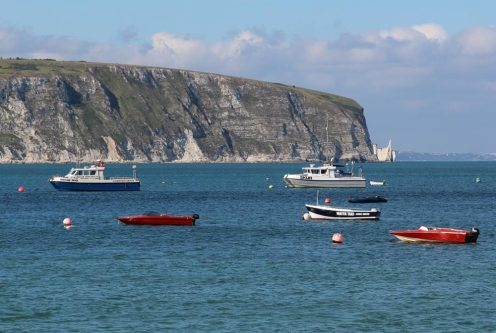 Ballard Point and Old Harry Rocks, from Swanage