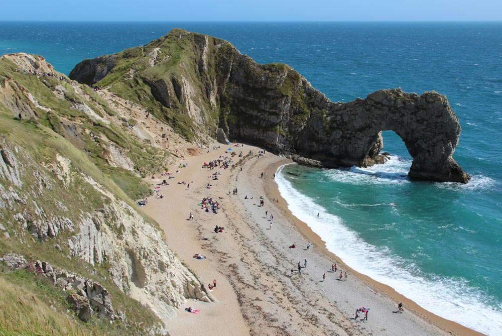 Beach and Durdle Door & Lulworth Cove to Durdle Door Dorset - Beautiful England Photos
