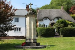 Cottages and War Memorial, Wherwell