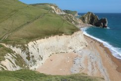 Durdle Door and South West Coast Path, from Swyre Head