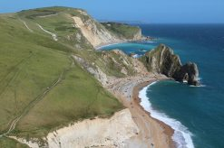 Durdle Door, St. Oswald's Bay and Dungy Head, from Swyre Head