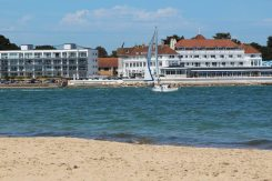 Entrance of Poole Harbour and Haven Hotel, Sandbanks