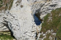 Erosion, base of The Foreland or Handfast Point, Old Harry Rocks, Studland