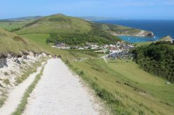 Lulworth Cove, from South West Coast Path to Durdle Door