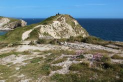 Remains of Coastguard Lookout Station, West Point, Lulworth Cove
