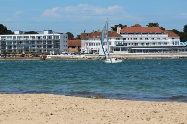 Sandbanks, from Shell Bay, Studland