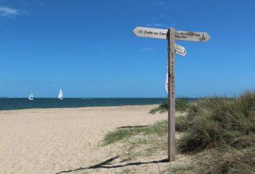 Signpost, Shell Bay, Studland