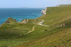 South West Coast Path to Durdle Door, from Lulworth Cove