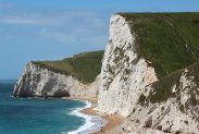 Swyre Head and Bat's Head, from cliffs above Durdle Door