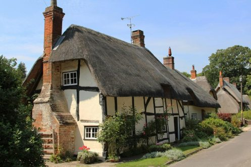 Thatched cottage, Church Street, Wherwell