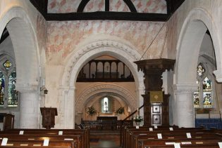 Nave and Chancel, St. Nicholas Church, Compton