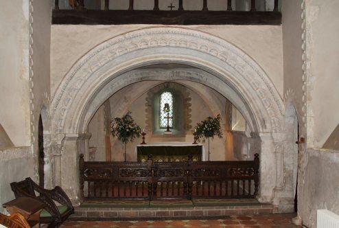 Sanctuary, from the Chancel, St. Nicholas Church, Compton