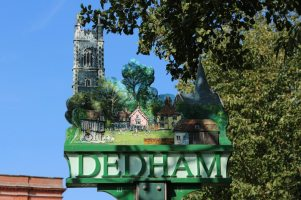 Village sign, Dedham