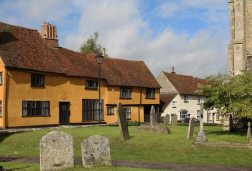 Old Chequers, from St. Mary's Churchyard, Boxford